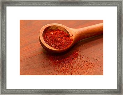 Chili Powder Framed Print by Louise Heusinkveld