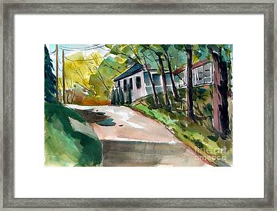Chili Up The Hill Double Matted Framed Print by Charlie Spear