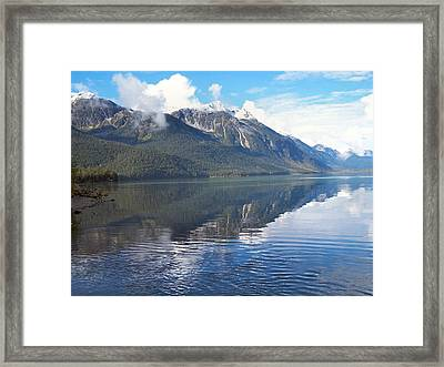 Framed Print featuring the photograph Chilkoot Lake by Adam Owen