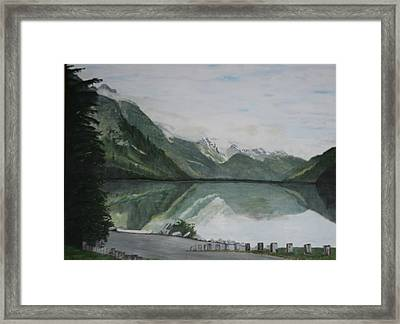 Framed Print featuring the painting Chilkoot Lake Alaska by Betty-Anne McDonald