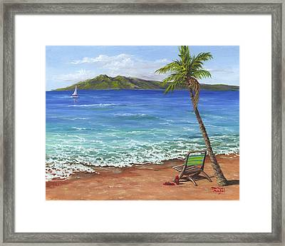 Framed Print featuring the painting Chillaxing Maui Style by Darice Machel McGuire