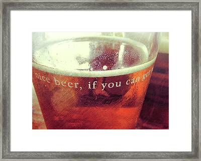 Chilled Amber Quote Framed Print by JAMART Photography