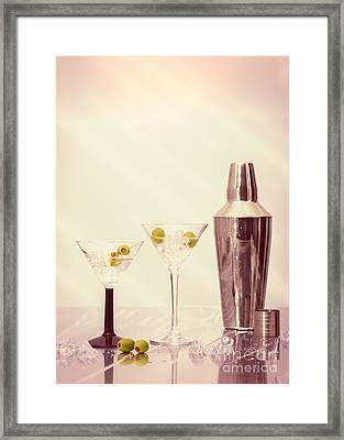 Chilled Martinis Framed Print by Amanda Elwell