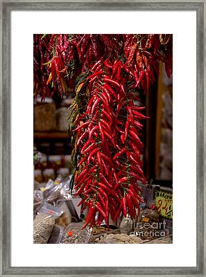 Chilli Peppers Framed Print by Svetlana Sewell