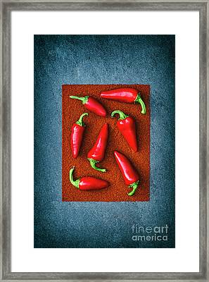 Chillies Framed Print by Tim Gainey