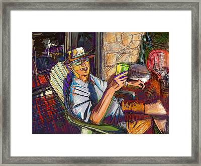 Chillin Framed Print by Russell Pierce