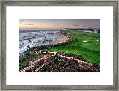 Framed Print featuring the photograph Chilling At Half Moon Bay by Peter Thoeny