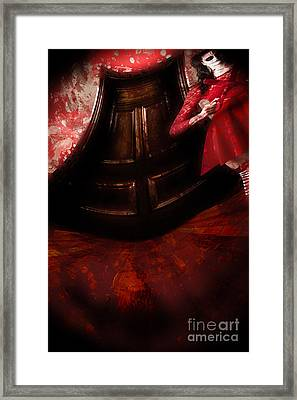 Chilling Female Killer Inside Spooky Horror House Framed Print