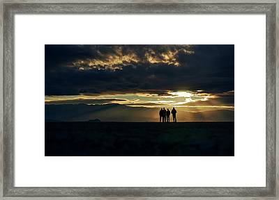Framed Print featuring the photograph Chilling In The Desert by Peter Thoeny