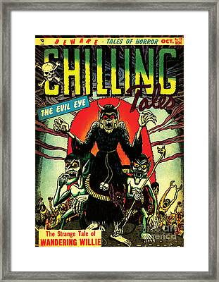 Chilling Tales 17 Horror Comic Cover Restored Framed Print