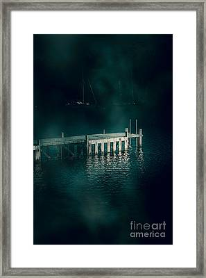 Chilling Wood Mooring Framed Print by Jorgo Photography - Wall Art Gallery