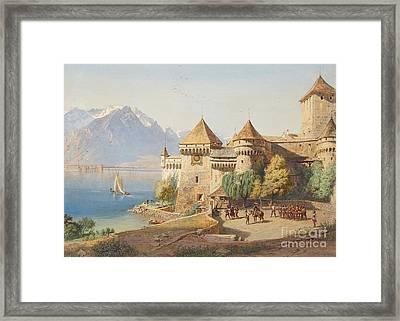 Chillon Castle On Lake Geneva Framed Print