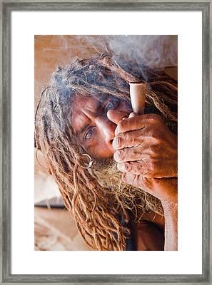 Chillum Baba Framed Print by John Battaglino