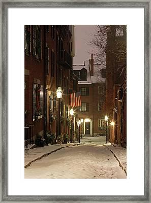 Chilly Boston Framed Print