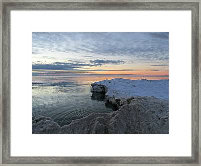 Framed Print featuring the photograph Chilly View by Greta Larson Photography