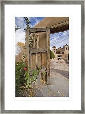 Chimayo Gate Framed Print
