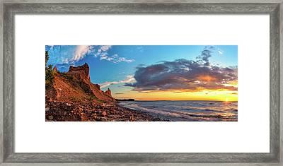 Chimney Bluffs Framed Print
