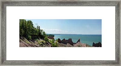 Chimney Bluffs Framed Print