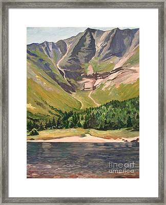 Chimney Pond At Katahdin Basin Framed Print by Stella Sherman