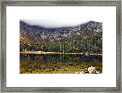 Chimney Pond During Fall - Baxter State Park Maine Framed Print by Brendan Reals