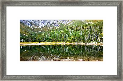 Chimney Pond Reflections 2 Framed Print by Glenn Gordon