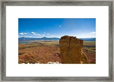 Chimney Rock  And Cerro Pedernal Framed Print