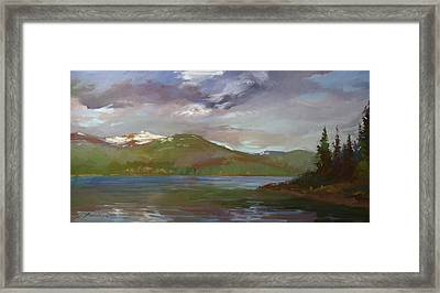 Chimney Rock  At Priest Lake  Plein Air Framed Print