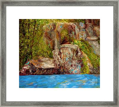 Chimney Rock Framed Print by Eloise Schneider