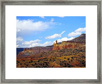 Chimney Rock Ghost Ranch New Mexico Framed Print