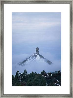 Chimney Rock Rising Framed Print