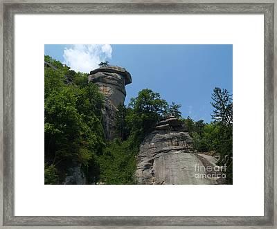 Chimney Rock State Park Nc Framed Print