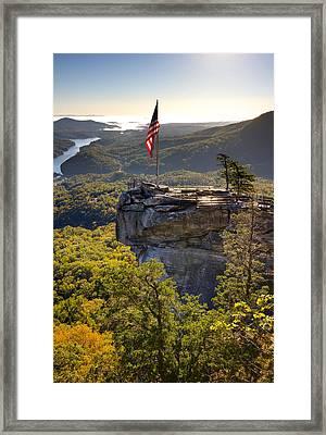Chimney Rock State Park North Carolina Framed Print by Dustin K Ryan