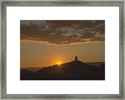 Chimney Rock Sunset Framed Print