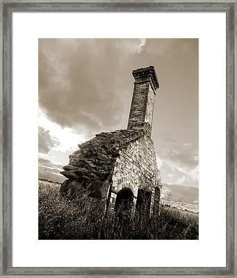 Chimney Ruins Framed Print