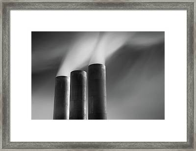 Chimneys Billowing Framed Print by Mark Voce Photography