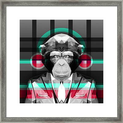 Chimpanzee 4 Framed Print