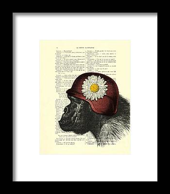 Monkey Flower Framed Prints