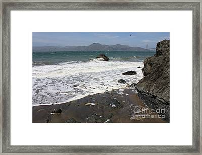 China Beach With Outgoing Wave Framed Print by Carol Groenen