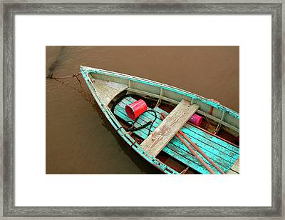 China Camp Boat Framed Print by Suzanne Lorenz