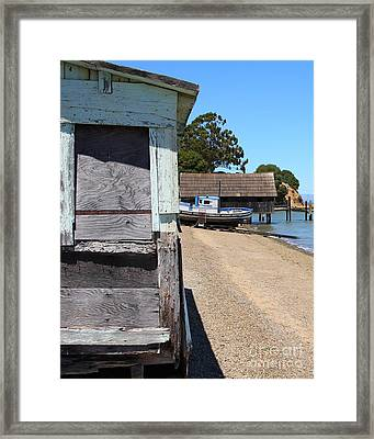 China Camp In Marin Ca - Vertical Framed Print by Wingsdomain Art and Photography