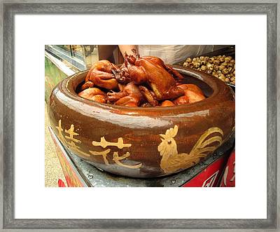 China Chicken In Market Framed Print by Lisa Boyd