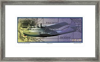 China Clipper Chasing The Sun Framed Print by Kenneth De Tore