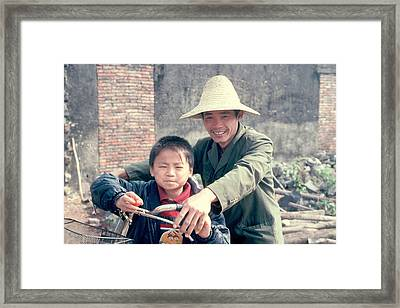 Framed Print featuring the photograph China Family by Douglas Pike