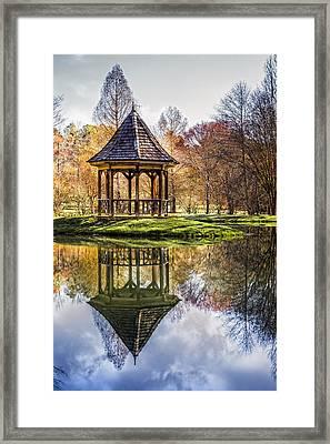China Garden Framed Print by Debra and Dave Vanderlaan