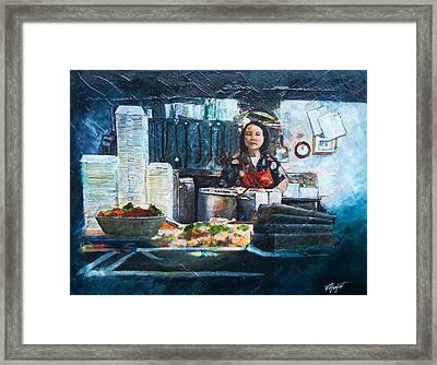 China Kitchen Framed Print by Victoria Heryet