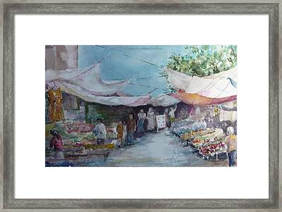 China Market Place Framed Print by Dorothy Herron