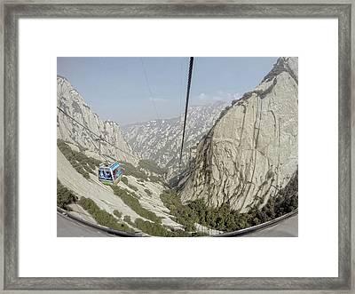 China Mountain Tram Framed Print
