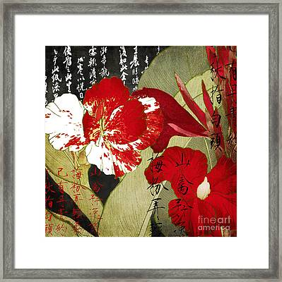 China Red Canna Framed Print by Mindy Sommers