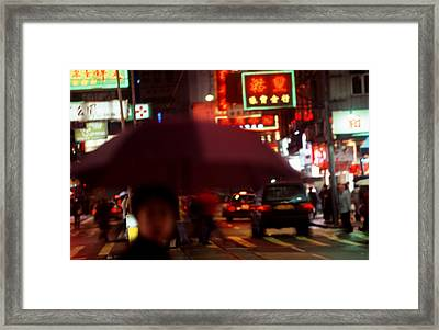 China Street Scene Hong Kong Framed Print by Brad Rickerby