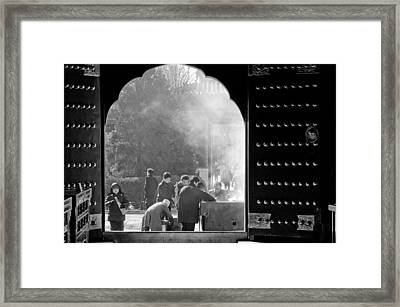 China Temple Framed Print by Sebastian Musial